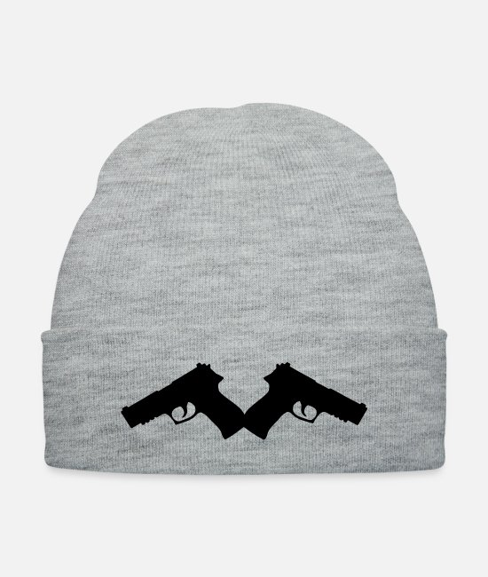 Gun Caps & Hats - gun2_2_mal6 - Knit Cap heather gray