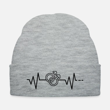 Marriage Heartbeat Heartrate gay pride marriage rights csd - Knit Cap