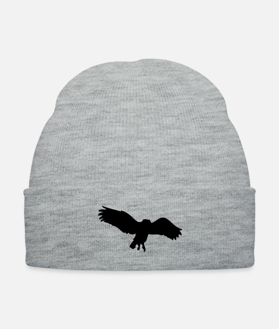 Nature Caps & Hats - Owl wings - Knit Cap heather gray