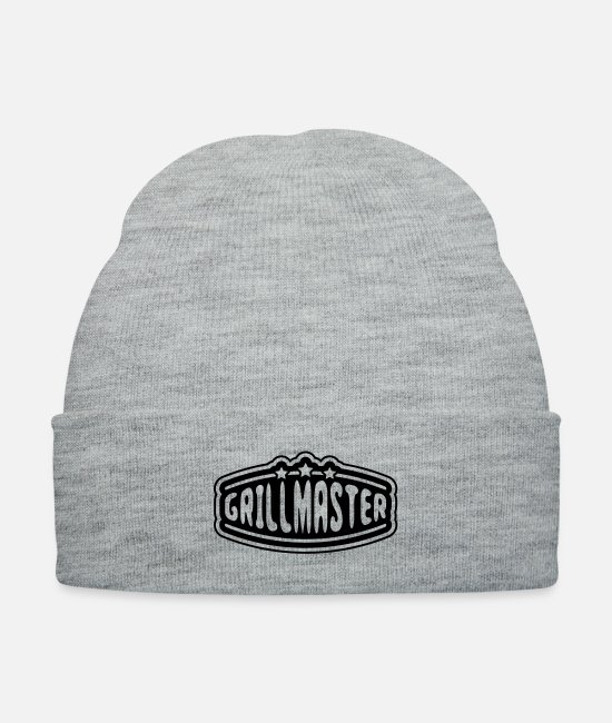 BBQ Caps & Hats - grillmaster_t1 - Knit Cap heather gray