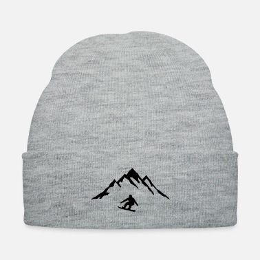 Snowboard Snowboard and Mountain, Snowboarding - Knit Cap