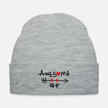 Girlfriend awesome girlfriend heart - Knit Cap