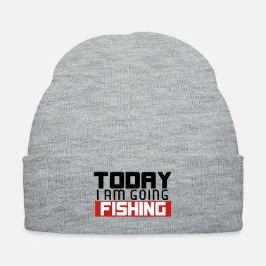 Boat Today I Am Going Fishing - Knit Cap