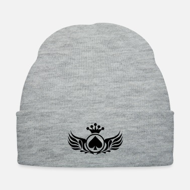 Bluff poker_wings_f1 - Knit Cap