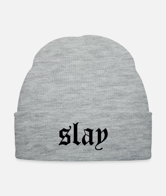 Rap Caps & Hats - Slay - Knit Cap heather gray
