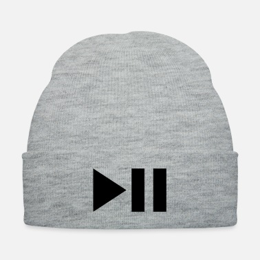 Playing play pause - Knit Cap