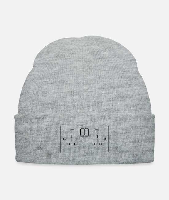 Boss Caps & Hats - UK 13A Power Point double Front elevation - Knit Cap heather gray