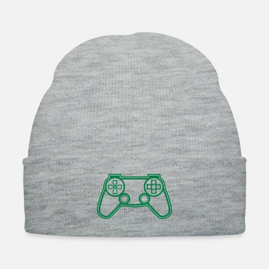 December Caps - Game Controller - Knit Cap heather gray