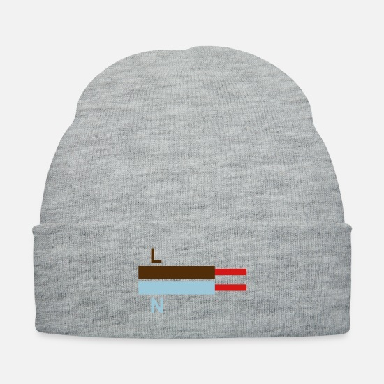 Brown Caps - electric cables LN - Knit Cap heather gray