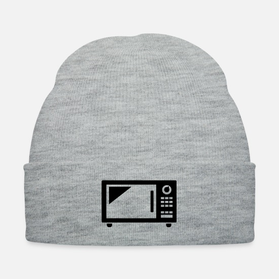 Lunch Caps - microwave stove oven kitchen - Knit Cap heather gray