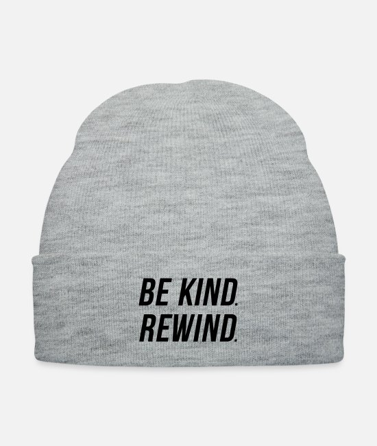 Hippie Caps & Hats - Be Kind - Rewind - Knit Cap heather gray
