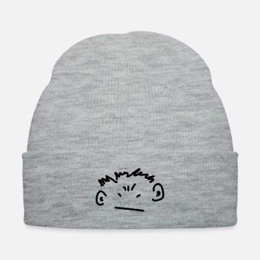 Emotion angry boy - Knit Cap