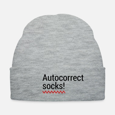 Irony Autocorrect Socks text message SMS Smartphone - Knit Cap