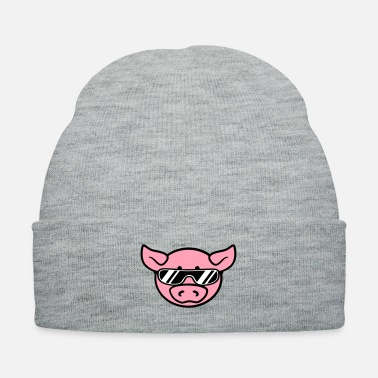 Sow Sunglasses cool party pig - Knit Cap