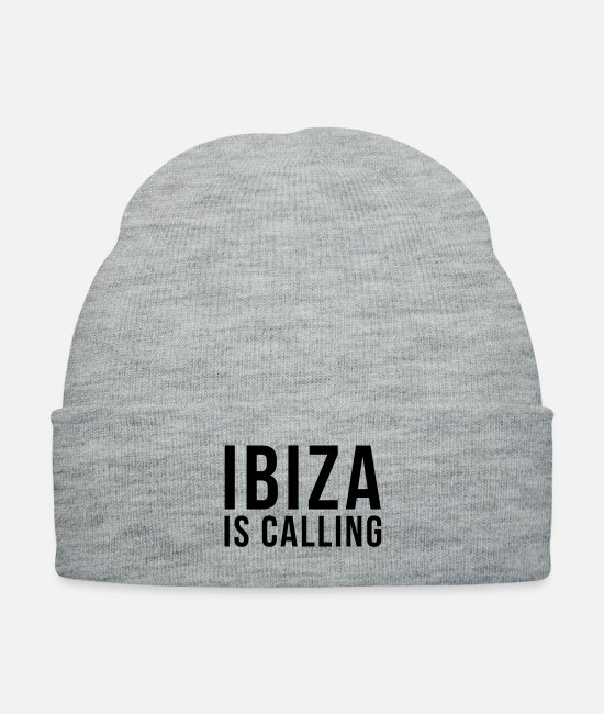 Hardstyle Caps & Hats - Ibiza Is Calling 2 - Knit Cap heather gray