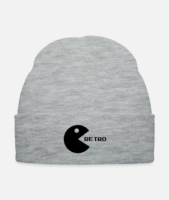 Player Caps & Hats - retro___f1 - Knit Cap heather gray