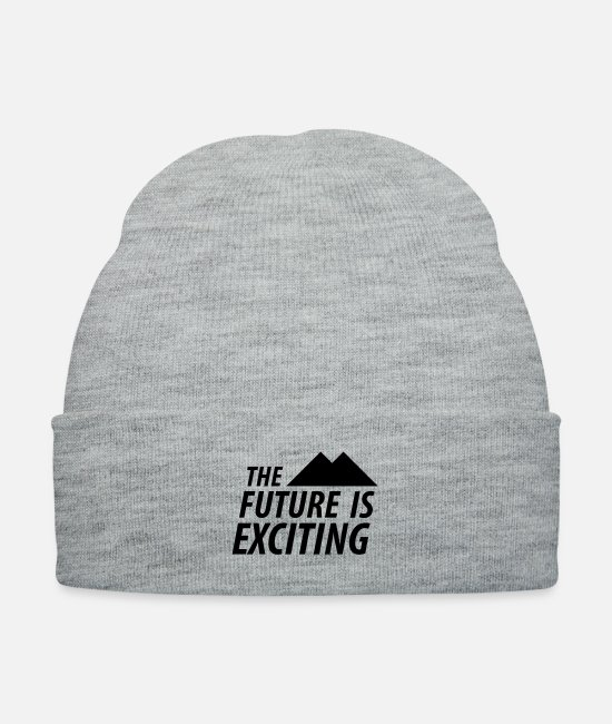 Quote Caps & Hats - The Future is Exciting - Knit Cap heather gray