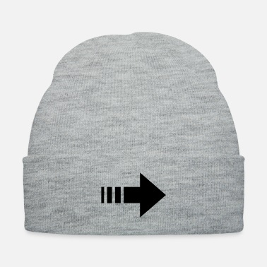 Mark Something arrow right direction guideline - Knit Cap