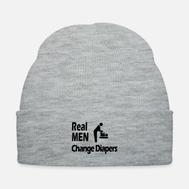 Change REAL Men change diapers - Knit Cap