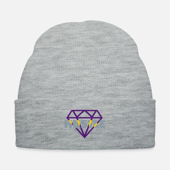 Hustle Caps - hustle 3 tone - Knit Cap heather gray