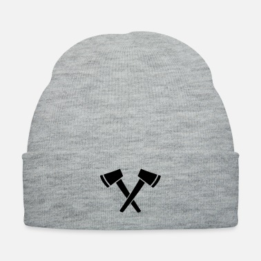 Crossed Ax - hatchet - Knit Cap