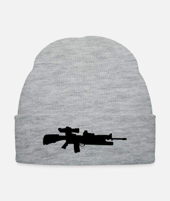 Fighting Caps & Hats - M4 Carbine - Knit Cap heather gray