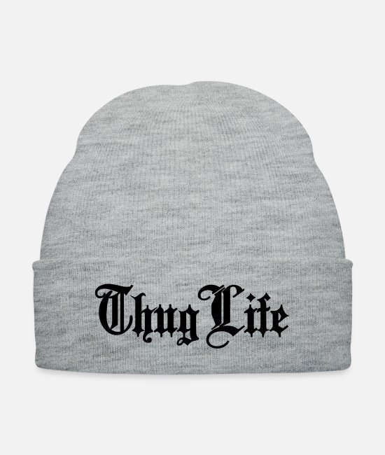 Criminal Caps & Hats - Thug Life - Knit Cap heather gray