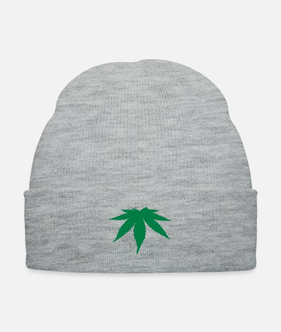 Drugs Caps & Hats - Weed Leaf - Knit Cap heather gray