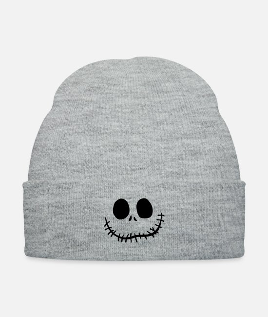 Nightmare Before Christmas Caps & Hats - jack o'lantern - Knit Cap heather gray