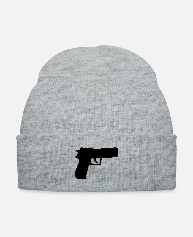 Criminal Caps & Hats - waffe__f1 - Knit Cap heather gray