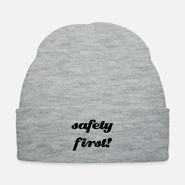 Extra safety_first_comic_font - Knit Cap