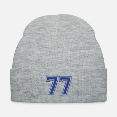 Lucky Number ۞»★Lucky Number 77-Vector Design★«۞ - Knit Cap