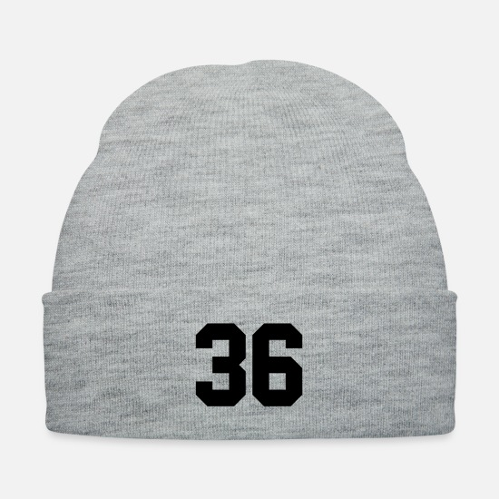 Soccer Caps - 36 - Knit Cap heather gray