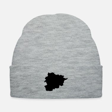 Map Andorra map - Knit Cap