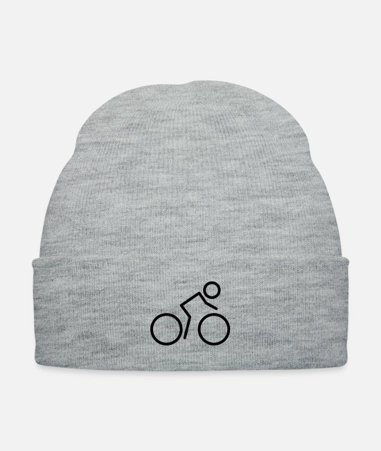 Biker Caps & Hats - bicycle_f1 - Knit Cap heather gray