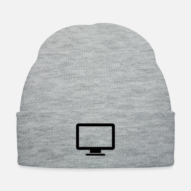 Computer Science computer monitor icon present - Knit Cap