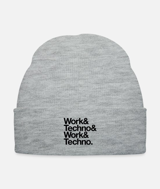 Acid Techno Caps & Hats - Work and techno - Knit Cap heather gray