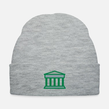 Court Court in Greek Columned style Building - Knit Cap