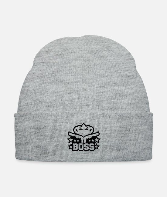 Boss Caps & Hats - boss_guns_design_c1 - Knit Cap heather gray