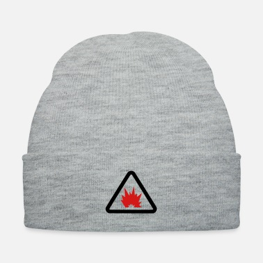 Explosion Explosion - Danger Sign - Knit Cap