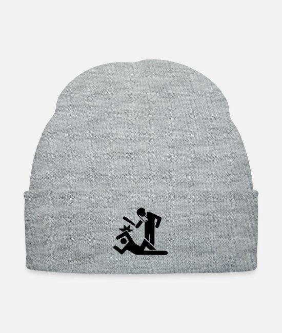 Police Brutality Caps & Hats - Police Brutality - Knit Cap heather gray