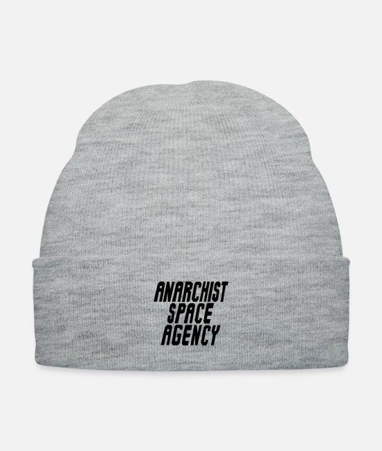 Anarchy Caps & Hats - Anarchist Space Agency - Knit Cap heather gray