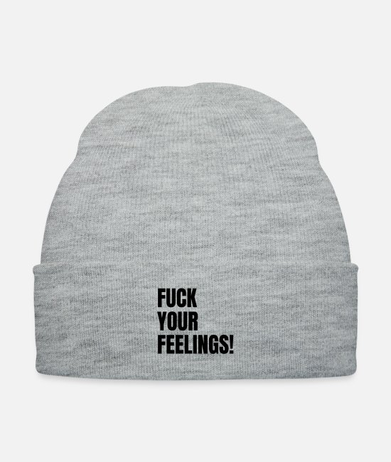Feelings Caps & Hats - Fuck Your Feelings - Knit Cap heather gray