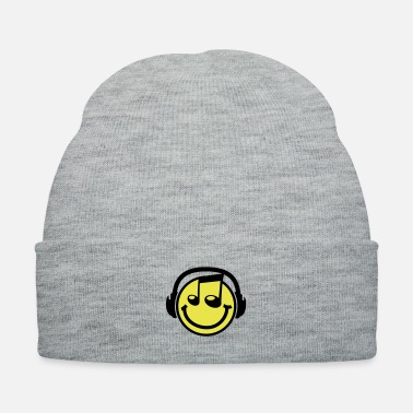Smiley Headphones musik_smiley__f2 - Knit Cap