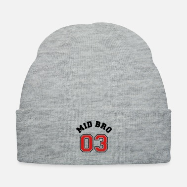 Siblings Mid Bro 03 - Middle Brother Siblings Shirt w - Knit Cap