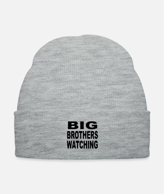 Spys Caps & Hats - Big Brothers Watching the government is everywhere - Knit Cap heather gray