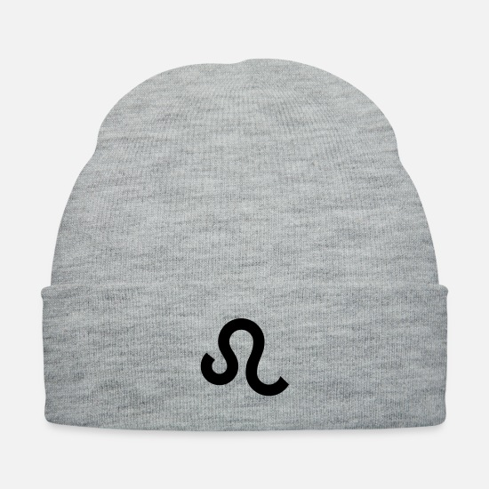 Symbol  Caps - Astrology Leo Lion Zodiac Sign Symbol 22 July-23 - Knit Cap heather gray