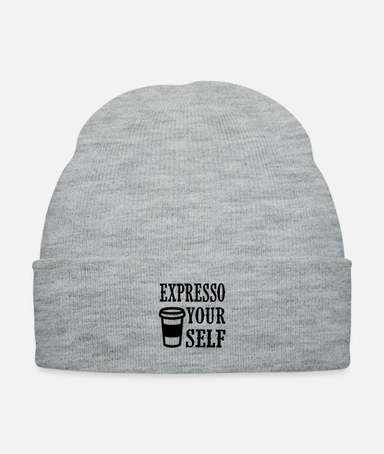 Rain Caps & Hats - expresso your self - Knit Cap heather gray