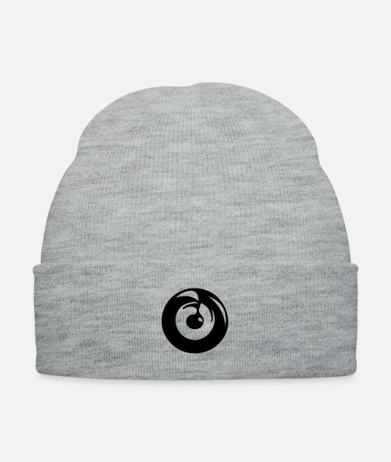 Pop Caps & Hats - Record disk Vinyl DJ Music - Knit Cap heather gray