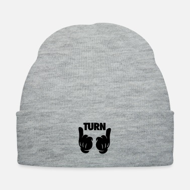 Turn Turn Up Hands - Knit Cap